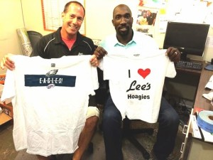 Waxman loves the Eagles and former Eagle Ike Reese loves Lee's.