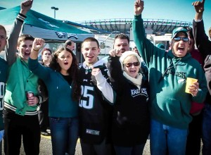 eagles fans drinking