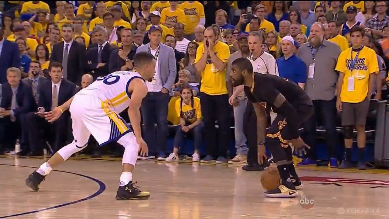 WATCH CAVS' KYRIE IRVING NAIL A 3 TO SINK CURRY AND THE ...