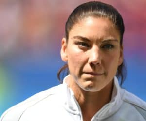 Aug 12, 2016; Brasilia, Brazil; United States goalkeeper Hope Solo (1) warms up for the game against Sweden during the women's team quarterfinal in the Rio 2016 Summer Olympic Games at Estadio Nacional Mane Garrincha. Mandatory Credit: Christopher Hanewinckel-USA TODAY Sports ORG XMIT: USATSI-319888 ORIG FILE ID:  20160812_sal_ah2_515.JPG