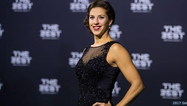 ZURICH, SWITZERLAND - JANUARY 09: The Best FIFA Women's Player Award nominee Carli Lloyd of the United States and Houston Dash, arrives for The Best FIFA Football Awards 2016 on January 9, 2017 in Zurich, Switzerland. (Photo by Philipp Schmidli/Getty Images)