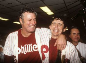 The 1980 World Series matched the Philadelphia Phillies against the Kansas City Royals, with the Phillies winning in six games to capture the first of two World Series titles in franchise history to date. The series concluded after Game 6, which ended with Tug McGraw striking out Willie Wilson at 11:29 pm on October 21, 1980. Wilson set a World Series record by striking out twelve times (after getting 230 hits in the regular season) in the six-game set.  The Kansas City Royals became the second expansion team, and the first American League expansion team, to appear in the World Series. The AL would have to wait until 1985 before one of their expansion teams—the Royals themselves—would win a World Series.  This was the first World Series played entirely on artificial turf. This was also the first World Series since 1920, and the last to date, in which neither team had won a World Series before. With their victory, the Phillies became the final team out of the original sixteen MLB teams to win a World Series.