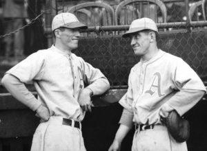Robert lefty Grove and Mickey Cochrane as Philadelphia A's 1930