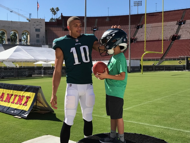 official photos 59cf5 b071d CHECK OUT EAGLES' ROOKIE MACK HOLLINS IN D-JAX' OLD NUMBER ...
